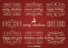 Free vector Vector Holiday Ornament Text Frames #2036