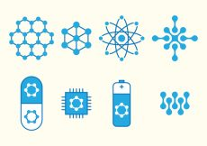 Free vector Nanotechnology Set Icons #1407