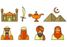 Free vector Set Of Sultan Icons #1477