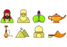 Free vector Set Of Sultan Icons #1475