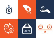 Free vector Vector Time is Money Icon Set #1689