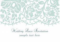 Free vector Wedding lace invitation template #1957