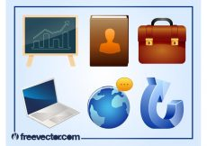 Free vector 3D Business Icons #9477