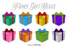 Free vector 3D Gift Boxes Vector Icons #10153
