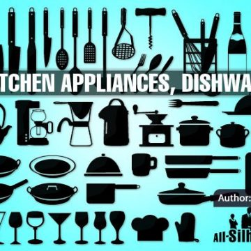 Free vector 52 Kitchen appliances, dishware #4989