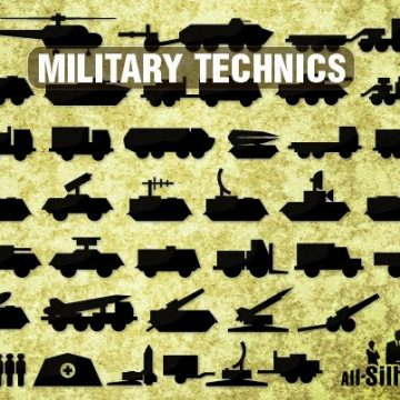 Free vector 53 Icons of military technics #7550