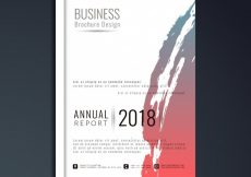 Free vector Abstract modern business brochure template #8382