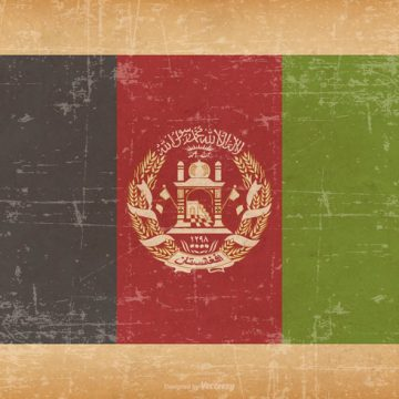 Free vector Afghanistan Flag On Old Grunge Background #10997