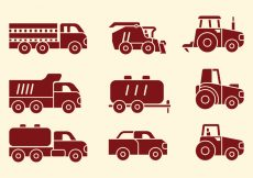 Free vector Agriculture Machines Icons #7770