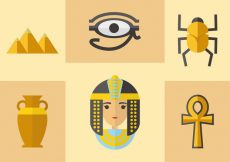 Free vector Ancient Egyptian Icons Vector #8665