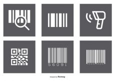 Free vector Assorted Barcode Icon Set #6470
