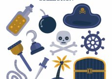 Free vector Assortment of pirate elements #9030