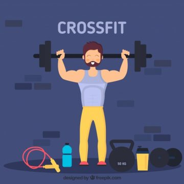 Free vector Background of man lifting weights in flat design #5121