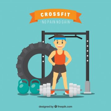 Free vector Background of sportsman in the gym #5127