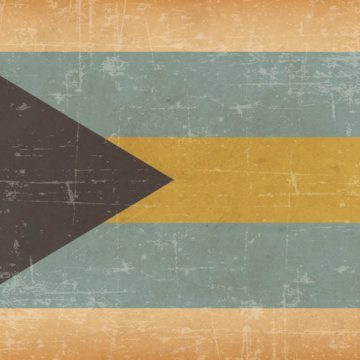 Free vector Bahamas Flag On Old Grunge Background #10993