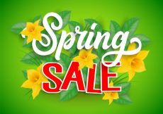 Free vector Beautiful spring sale background #7325