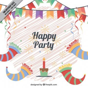 Free vector Birthday decoration background with decoration #11559