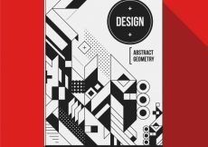 Free vector Black and white abstract cover design #6169