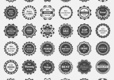 Free vector Black and white logo collection #9135