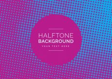 Free vector Blue and pink halftone background desig #6730