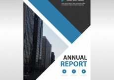 Free vector Blue geometric professional annual report template #8191