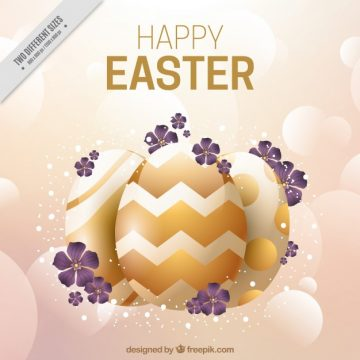 Free vector Blurred easter background with golden elements #11581