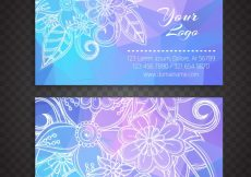 Free vector Boho style business card #8127