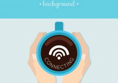 Free vector Cafe background with wifi #5867
