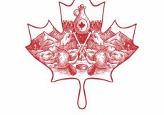Free vector Canada day background with hand-drawn traditional elements #9237
