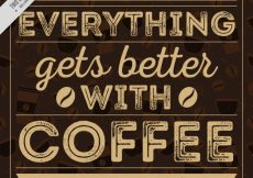 Free vector Coffee lettering in vintage style #11623