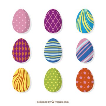 Free vector Collection of colorful abstract easter eggs #10812