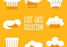 Free vector Collection of hand-drawn chef hats #6209