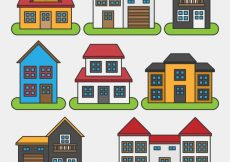Free vector Collection of houses with different designs #10760