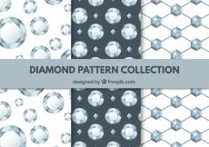 Free vector Collection of three diamond patterns #9602