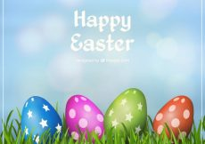 Free vector Colorful easter eggs background #11079