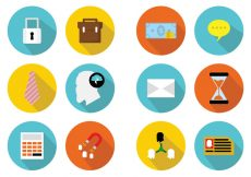 Free vector Colorful Flat Business Icons #9226