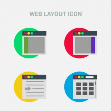 Free vector Colorful icons, web theme #11591