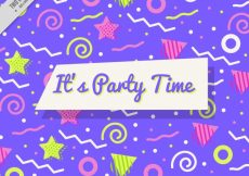 Free vector Colorful party background in memphis style #11451