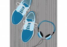 Free vector Coloured tennis and headphones #10902