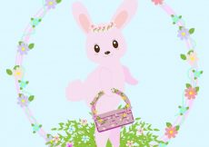 Free vector Cute bunny easter background design #10211