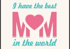 Free vector Cute mothers day card with heart #5533