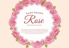 Free vector Decorative background of hand drawn roses #3834