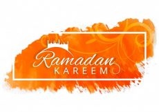 Free vector Decorative orange ramadan kareem design #9333