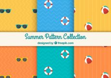 Free vector Fantastic summer patterns with flat elements #9903