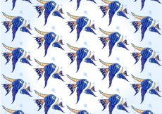 Free vector Fishes pattern design #10980