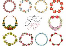 Free vector Floral rings collection #7517
