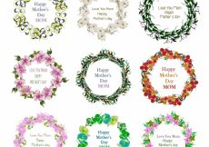 Free vector Floral wreath mothers day design #7609