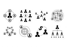 Free vector Free Business Network Icon Vector #5868