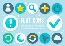 Free vector Free Flat Icons Vector Background #9681