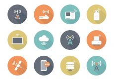 Free vector Free Flat Wireless Vector Icons #6587